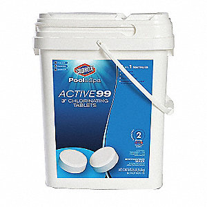 "Pool Tablet Chlorine, 3"", 1 EA"