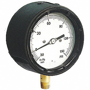 "4-1/2"" Process Pressure Gauge, 0 to 400 psi"