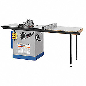 "12"" Cabinet Table Saw, 16.0 Amps, Blade Tilt: Left, 5/8"" and 1"" Arbor Size, 3450 No Load RPM"