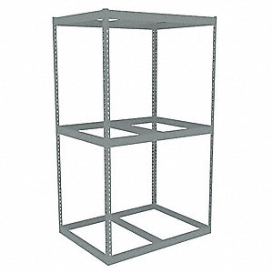 Boltless Shelving Starter,48x36,3 Shelf
