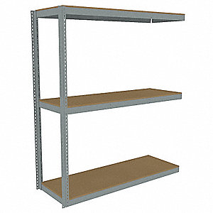 "Add-On Boltless Shelving with Particle Board Decking, 3 Shelves, 73""W x 24-5/8""D x 84""H"