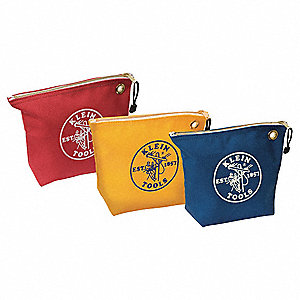Canvas Tool Bag Set, General Purpose, Number of Pockets: 1, Blue, Red, Yellow