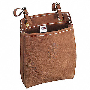 All Purpose Bag,9 x8 x3 In,Leather,Brown
