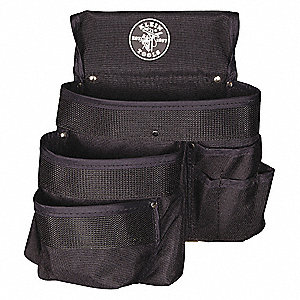 Tool Pouch,9 Pkt,11 x 12 In,Nylon,Black