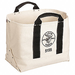 "Tool Tote,1 Pocket,17""x9""x12"",Tan"