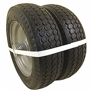 "10"" Light-Medium Duty Sawtooth Tread Flat-Free Wheel, 225 lb. Load Rating"
