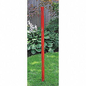FENCE POST 6FT RED W/DOCKAGE PORTS
