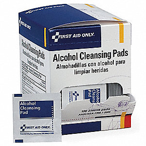 Alcohol Pads, Wipes, Box, Wrapped Packets