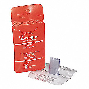 CPR Face Shield,Clear,3 in. L x 1 in. W