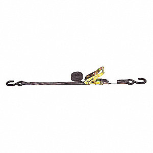 Tie Down Strap,Ratchet,Poly,12 ft.