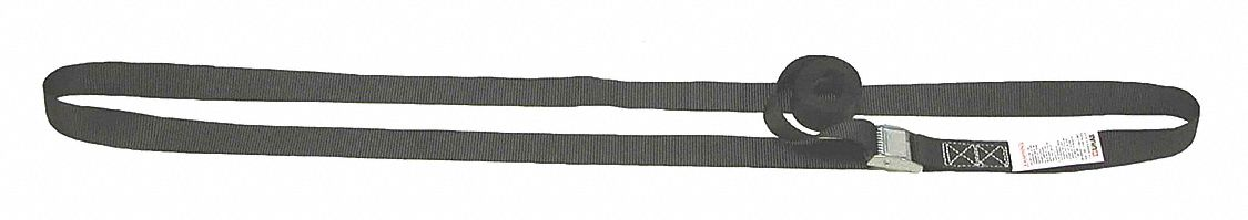 Tie Down Strap, 12 ftL x 1 inW, 330 lb Load Limit, Adjustment: Cam Buckle