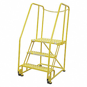 Tilt and Roll Ladder,3 Steps,41in.D.