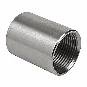 "1/2"" Rigid Threaded Coupling, 1-5/8"" Overall Length"
