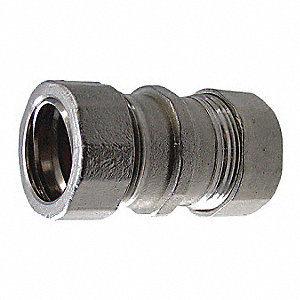 "2"" EMT Compression Coupling, 2-49/64"" Overall Length"