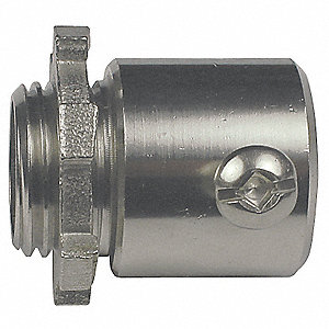 "1-1/2"" EMT Set Screw Connector, 1-29/32"" Overall Length"