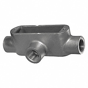 Conduit Outlet Body w/Cover,2-1/2 In.