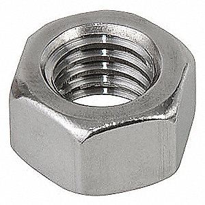 "3/4""-10 Hex Nut, Plain Finish, 316 Stainless Steel, Right Hand, ASME B18.2.2, EA1"