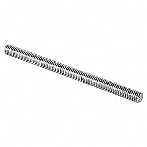 Fully Threaded Rod, 316 Stainless Steel, 3/8