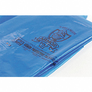 "12""L x 10""W VCI Reclosable Poly Bag with Zip Seal Closure, Blue; 4 mil Thickness"