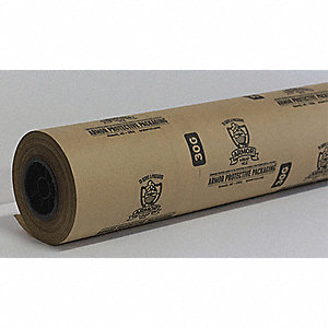 "Paper Roll, 30 lb. Basis Weight, 600 ft. Length, 24"" Width, Natural Kraft Color"