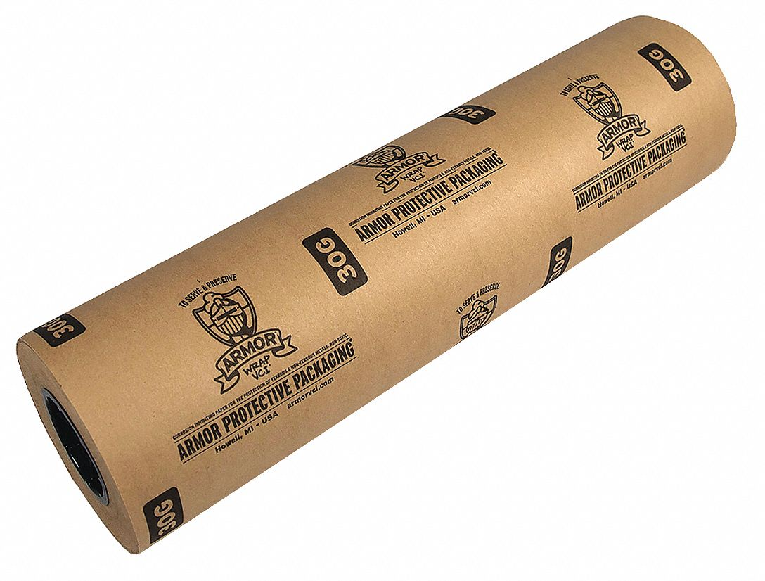 VCI Paper,  Roll,  30 lb Basis Weight,  Roll Width 12 in,  Roll Length 600 ft,  PK 3
