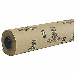 "Multi Purpose Paper Roll, 30 lb. Basis Weight, 4 ft. Length, 46"" Width, Natural Kraft Color"