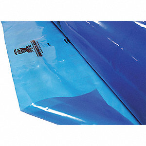Blue Protective Packaging Film, LLDPE Film Material, 20 ft. Width, 100 ft. Length