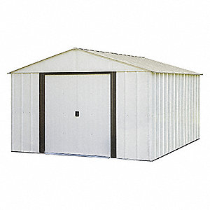 Outdoor Storage Shed,115 cu. ft,Eggshell