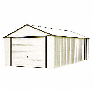 Outdoor Storage Shed,422 cu. ft.,Almond