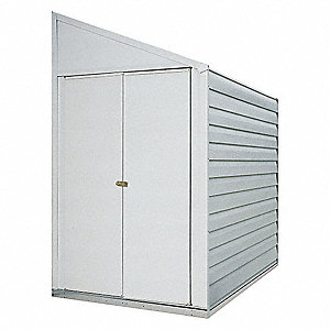 Outdoor Storage Shed,26 cu. ft.,Eggshell