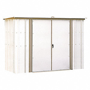 Outdoor Storage Shed,23 cu. ft.,Eggshell
