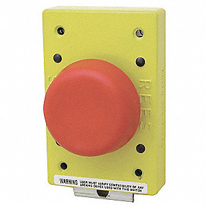 Non-Illuminated Plunger Push Button,Red