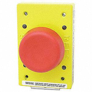 Emergency Stop Push Button, Type of Operator: 57mm Mushroom Plunger, Size: 57mm, Action: Momentary P
