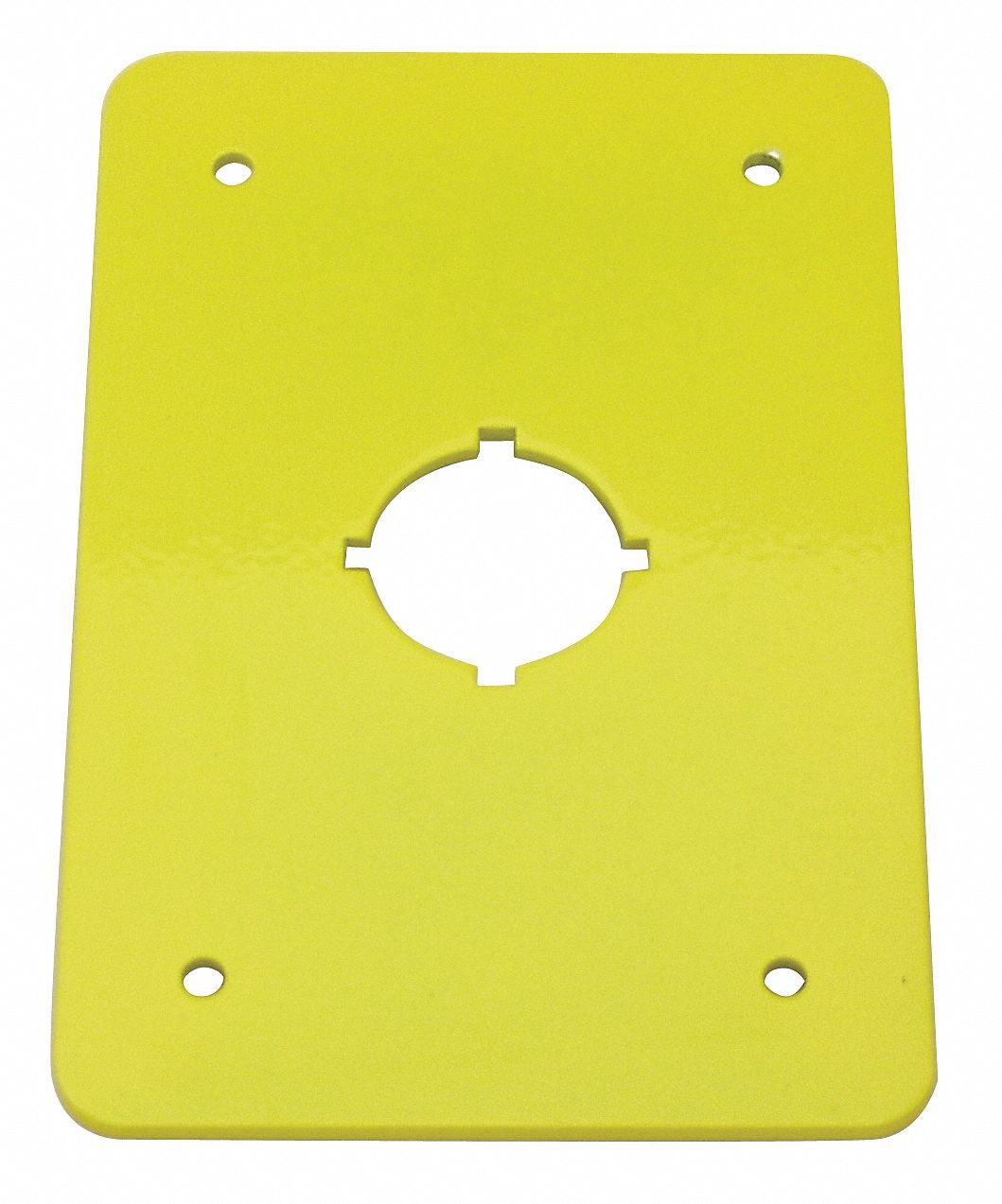 Switch Plate, Yellow, Steel, Size: 110 mm