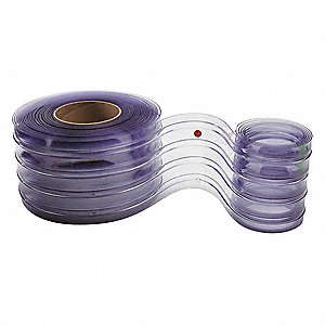 "Ribbed PVC Replacement Strips, 8""W x 8 ft. 3""L"