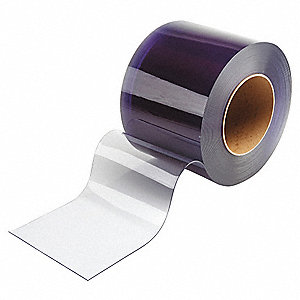 Flexible Bulk Rolls,Smooth,8in,Clear,PVC