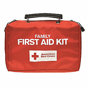 First Aid Kit,Bulk,Red,118 Pcs,10 People