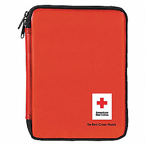 First Aid Kit,Bulk,Red,73 Pcs,10 People