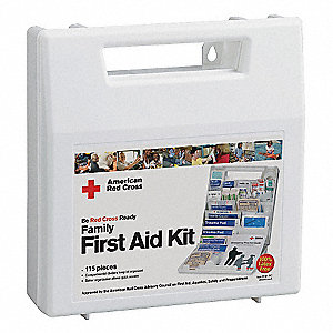 First Aid Kit,Bulk,White,115 Pcs,10 Ppl