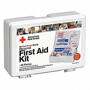 First Aid Kit,Bulk,White,44 Pcs,10 Ppl