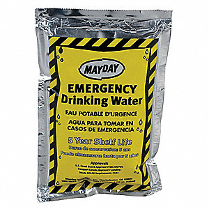 Emergency Drinking Water,4.227 oz,PK100
