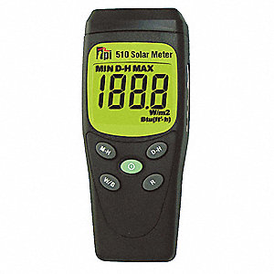 0-1999 W/m² Solar Power Test Meter, Includes Case And Battery, Meter