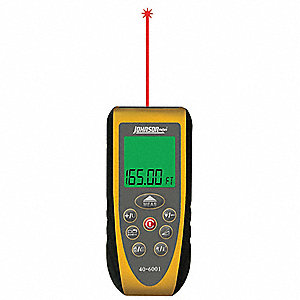 "Laser Distance Meter, ±1/16"" Accuracy, 2"" to 165 ft. Range"