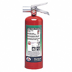 Halotron Fire Extinguisher with 5 lb. Capacity and 9 sec. Discharge Time