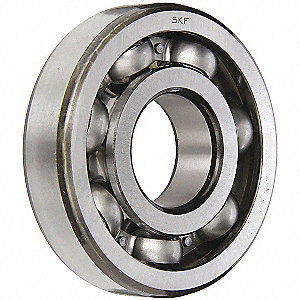 Radial Ball Bearing, Open, 60mm Bore Dia., 95mm Outside Dia.