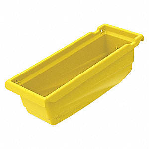 "Hanging Bin, Yellow, 11-1/2"" Outside Length, 4-1/8"" Outside Width, 4-1/2"" Outside Height"