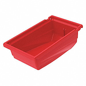 "Hanging Bin, Red, 11-1/2"" Outside Length, 6-5/8"" Outside Width, 4-1/2"" Outside Height"