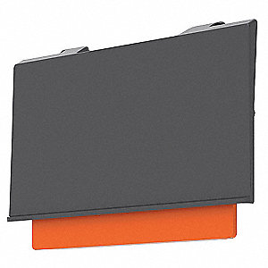 "Industrial Grade Polymer Label Holder, Black/Orange, 4-13/64""L x 2""W, 24 PK"