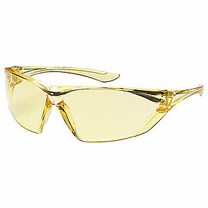 FogLess  Anti-Fog, Scratch-Resistant Safety Glasses, Amber Lens Color