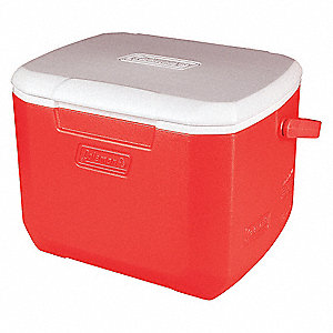 Plastic 16.0 qt. Personal Cooler, Ice Retention Up to 1 day, Red